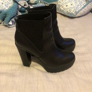 Black Steve Madden Booties